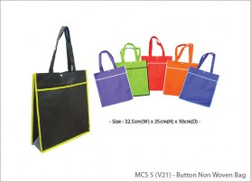 Button Non Woven Bag MCS 5 V21