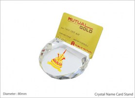 Crystal Name Card Stand 8183