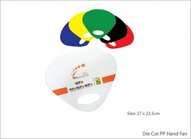 Die Cut PP Hand Fan