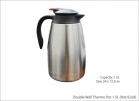 Double Wall Thermo Pot 1 5L Hot Cold