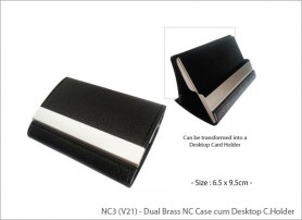 Dual Brass NC Case cum Desktop Card Holder NC3 V21