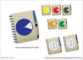 ECO Calendar Rota Notepad with Pen