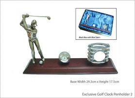 Exclusive Golf Clock Penholder 2 V21