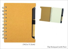 Flip Notepad with Pen