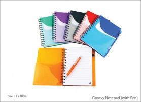 Groovy Notepad with Pen