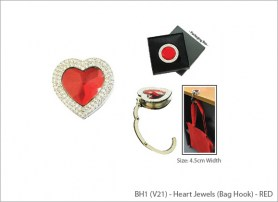 Heart Jewels (Bag Hook) - RED