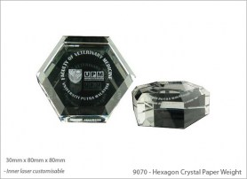 Hexagon Crystal Paper Weight