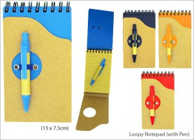 Loopy Notepad with Pen