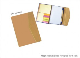 Magnetic Envelope Notepad with Pen