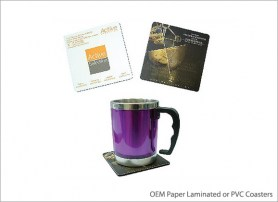 OEM Paper Laminated or PVC Coasters