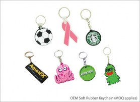 OEM Soft Rubber Keychain MOQ applies