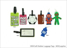 OEM Soft Rubber Luggage Tags MOQ applies