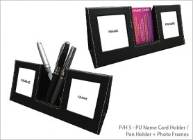 PU Name Card Holder Pen Holder Photo Frames