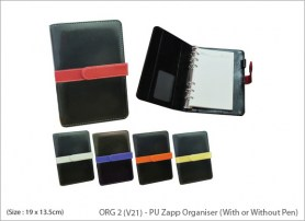 PU Zapp Organiser With or Without Pen
