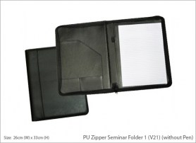 PU Zipper Seminar Folder 1 V21 without Pen