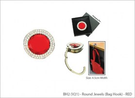 Round Jewels (Bag Hook) - RED