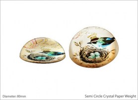 Semi Circle Crystal Paper Weight 8154