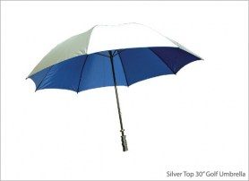 Silver Top 30 inch Golf Umbrella