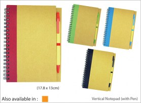 Vertical Notepad with Pen