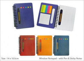Window Notepad with Pen Sticky Notes