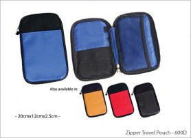 Zipper Travel Pouch 600D